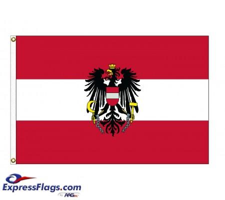 Austria with Eagle Nylon FlagsAUT-NYL-2