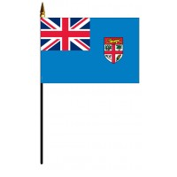 Fiji Mounted Flags - 4in x 6in