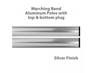 Aluminum Marching Band Poles - Top & Bottom Plug, Silver