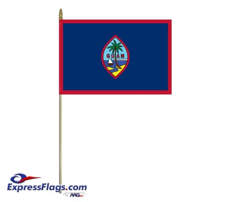 Mounted Guam Flags