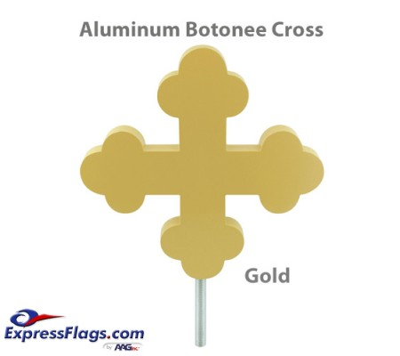 Botonee Cross Outdoor Flagpole Ornaments - Gold Finish330081