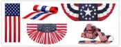 Pleated Fans, Pulldowns, Bunting