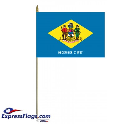 Mounted Delaware State Flags