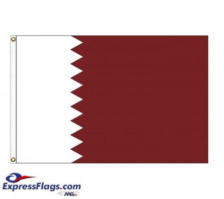 Qatar Nylon Flags (UN Member)QAT-NYL