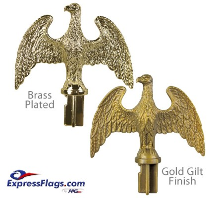 Plastic Slip-Fit Eagle Ornaments for Indoor Display FlagpolesPSFE