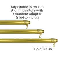 Adjustable Aluminum Pole - 6' up to 10'