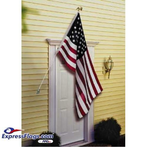 Deluxe U.S. Flag & Flagpole Set - Wall Mount010150