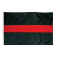 Thin Red Line Flag - 3' x 5' Endura-Nylon