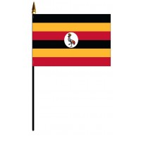 Uganda Mounted Flags - 4in x 6in