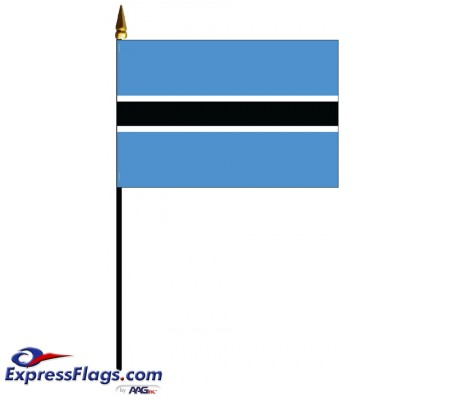 Botswana Mounted Flags - 4in x 6in030576