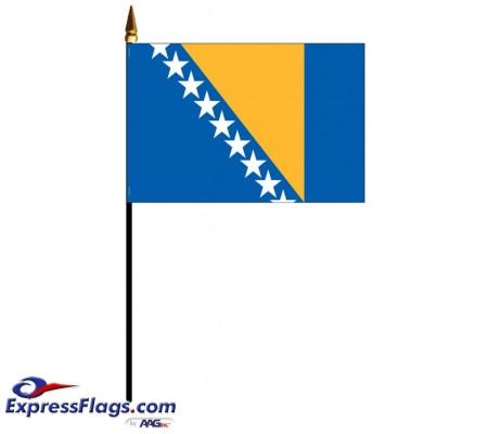 Bosnia-Herzegovina Mounted Flags - 4in x 6in030571