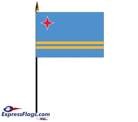 Aruba Mounted Flags - 4in x 6in030243