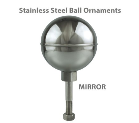 Stainless Steel Ball Outdoor Flagpole Ornaments - Mirror FinishSS-MF