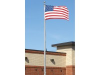 25 ft. Hurricane Aluminum Flagpole (0.250) - External Halyard