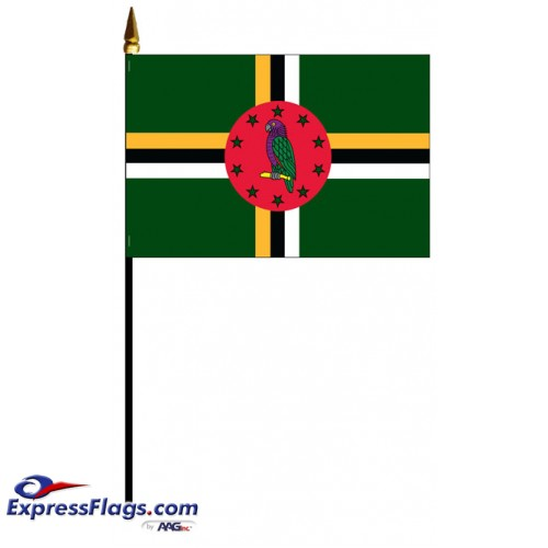 Dominica Mounted Flags031189