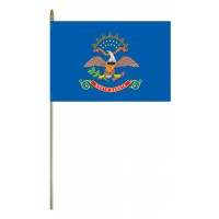 Mounted North Dakota State Flags