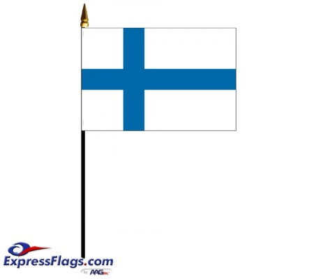Finland Mounted Flags