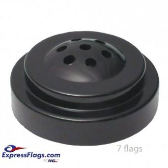 Black Styrene Plastic Tabletop Flag BasesStyle 1