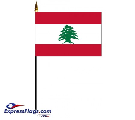 Lebanon Mounted Flags - 4in x 6in032391