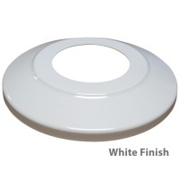 Standard Profile Aluminum Flagpole Flash Collars - White Finish
