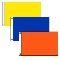Rectangle Solid Color Nylon Flags