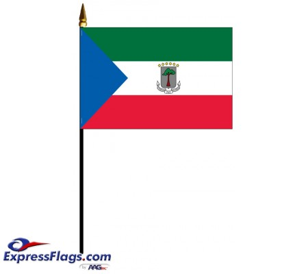 Equatorial Guinea Mounted Flags - 4in x 6in031369