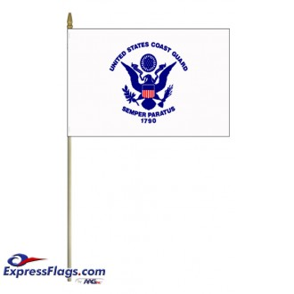 Coast Guard Stick Mounted FlagsUSM-CG-MTD