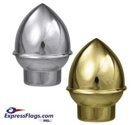 Plastic Slip Fit Acorn Ornament for Indoor Display FlagpolesPA