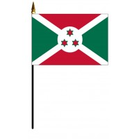 Burundi Mounted Flags - 4in x 6in