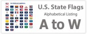 U.S. State Flags - Alphabetical Listing