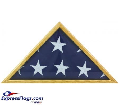 Oak Memorial Flag Case - Fits 5  x 9-1/2  Flag070334