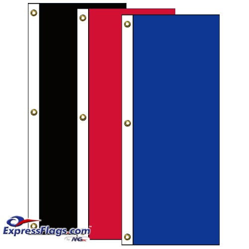 Tall Vertical Solid Color Nylon FlagsNY-T