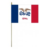 Mounted Iowa State Flags
