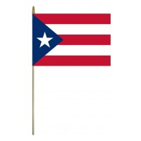 Mounted Puerto Rico Flags