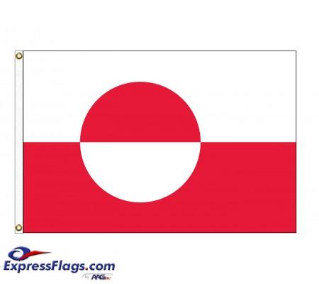 Greenland Nylon Flags - 3  x 5031744