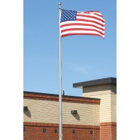 40 ft. Hurricane Aluminum Flagpole (0.250) - External Halyard