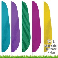 Nylon Solid Color Feather Flags - 12 Ft.