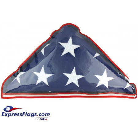 Plastic Memorial Flag Case - Fits 5  x 9-1/2  Flag070339