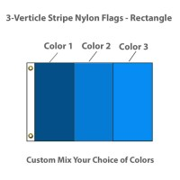 3-Verticle Stripe Nylon Flags - Rectangle