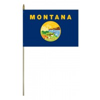Mounted Montana State Flags