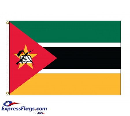 Mozambique Nylon Flags (UN Member)MOZ-NYL