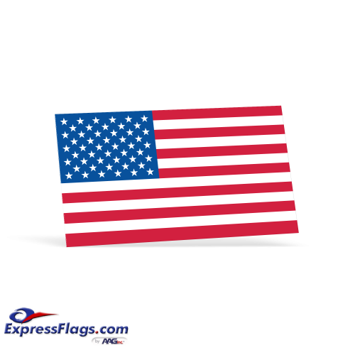 American Flag Decals - 2-1/4 in x 4 inGL-5926