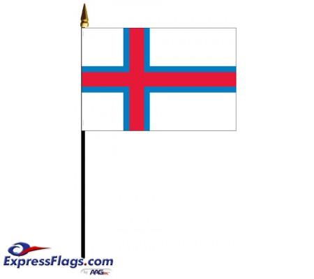 Faroe Islands Mounted Flags - 4in x 6in031485