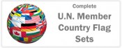 U.N. Member Country Flags - 193 Flags Complete Sets
