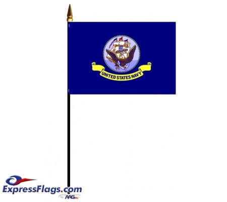 Navy Stick Mounted FlagsUSM-NY-MTD