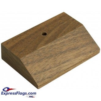 Walnut Wood Tabletop Flag BasesStyle 8