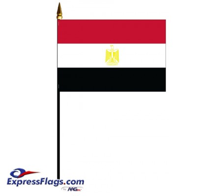 Egypt Mounted Flags - 4in x 6in031304