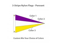 3-Stripe Nylon Flags - Pennant