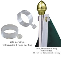 EZ-Mount Clear Plastic Flag Rings