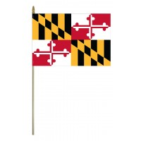 Mounted Maryland State Flags
